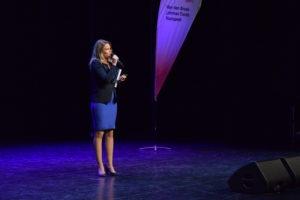 Dagvoorzitter Lorraine Vesterink